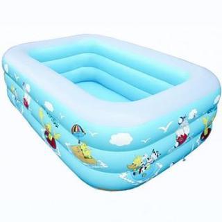 (HÀNG TỐT) Bể bơi phao 3 tầng cho bé size 130x85x55cm mẫu mới 2019 (Xanh) thumbnail