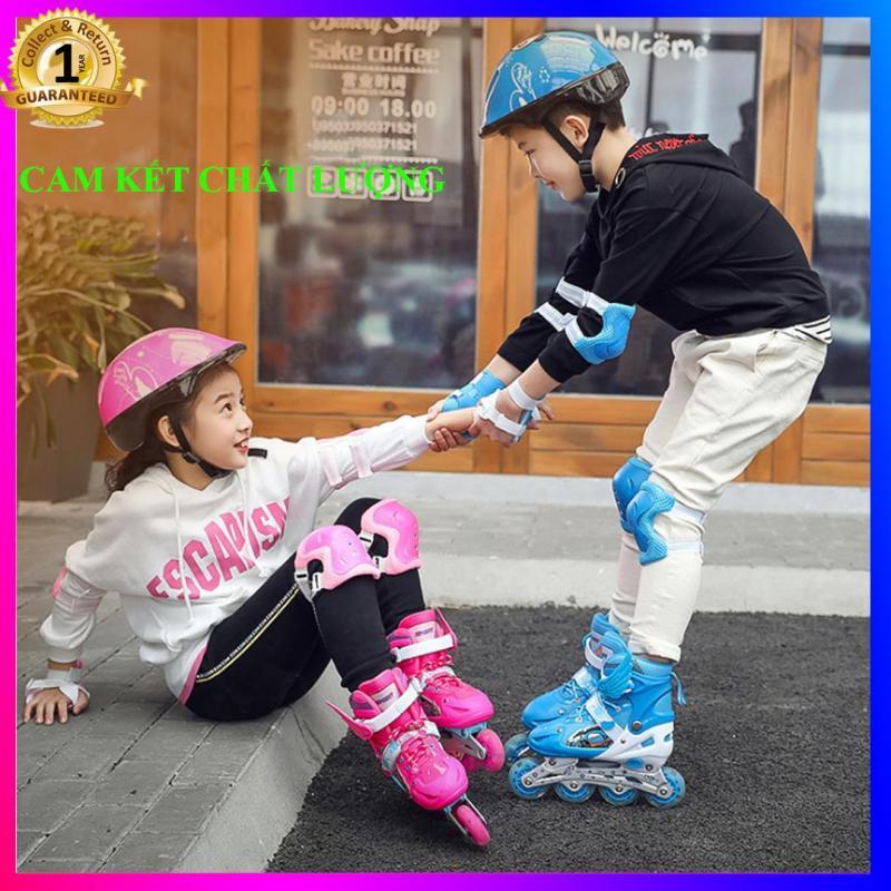 Phân phối Ban Giay Truot Patin trẻ em, Giày Patin Trẻ Em Chống Trẹo Chân, Tặng Ngay Set Bảo Hộ Cho Bé, Bảo Hành 1 Đổi 1 Trong 3 Tháng