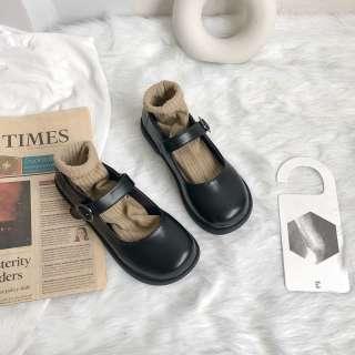 QIT654 Giày Da Nhỏ Nhật Bản Nữ Sinh Viên Jk Giày Búp Bê Anh Miệng Nông Mềm Cô Gái Giày Đơn Phong Cách Đại Học Retro Mary Jane
