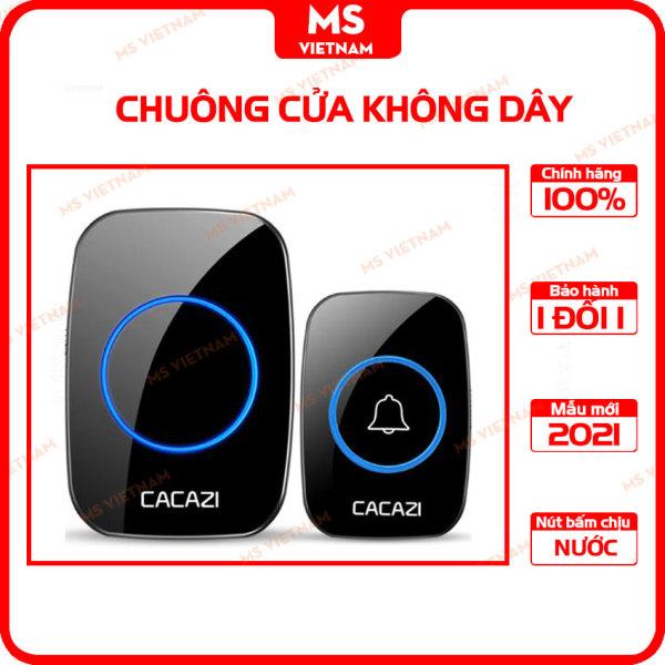 Chuông cửa không dây Cacazi A10 - Bộ 1 nút 1 chuông -  Dùng Điện bền bỉ - MS Vietnam