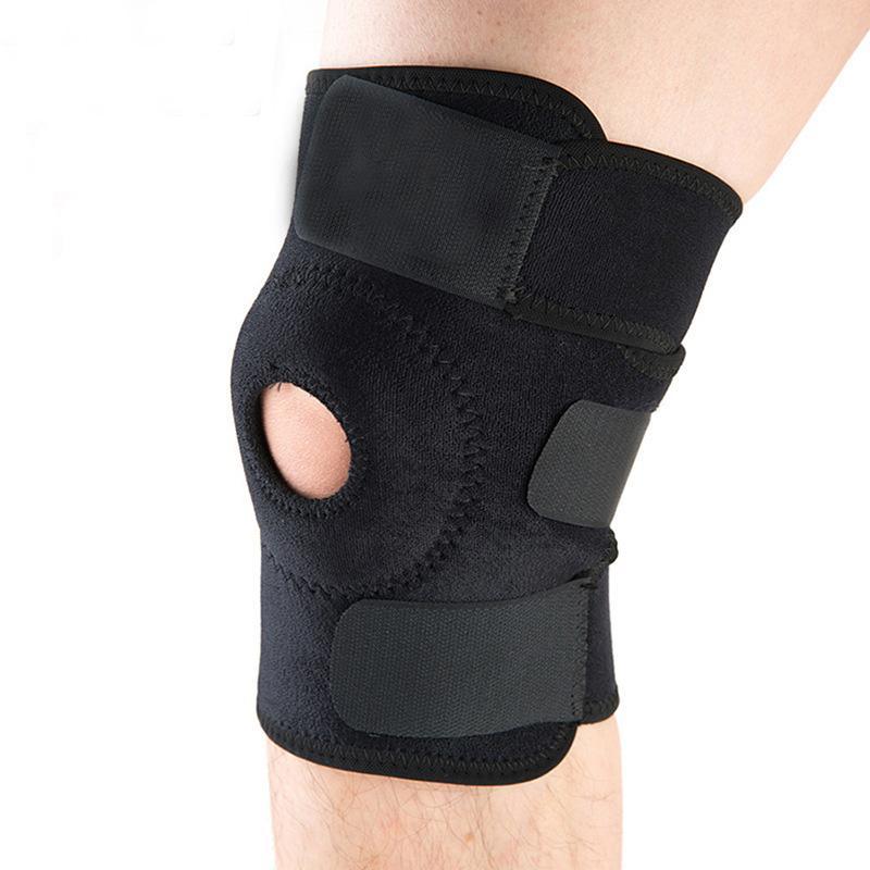 Bó gối thể thao - bảo vệ đầu gối co giãn có đai tránh chấn thương - chất liệu cao cấp, độ đàn hồi tốt