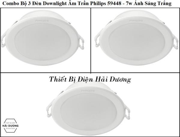 Combo Bộ 3 Đèn Led Downlight Âm Trần Philips 59448 MESON 105 7W - 59449 MESON 105 9W - 59464 MESON 125 13W - Công Nghệ Eye Comfor Bảo Vệ Mắt Độc Quyền của Philips