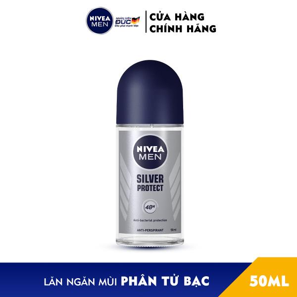 Lăn Ngăn Mùi NIVEA MEN Silver Protect Phân Tử Bạc Giảm 99.9% Vi Khuẩn Gây Mùi (50ml) - 83778