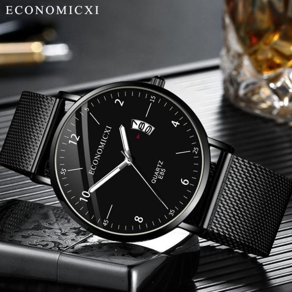 Đồng hồ nam dây thép chống nước mặt  chống xước ECONOMICXI ECO89