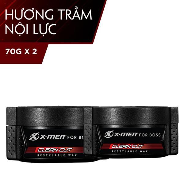 Combo 2 Sáp vuốt tóc X-men for Boss Wax Clean Cut 70g giá rẻ
