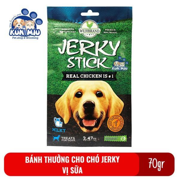 Bánh Thưởng Cho Chó Jerky 70Gr Vị Sữa