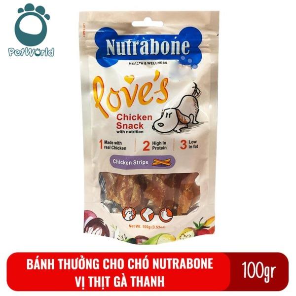 Bánh thưởng cho chó Nutrabone 100gr vị thịt gà - Chicken Strips