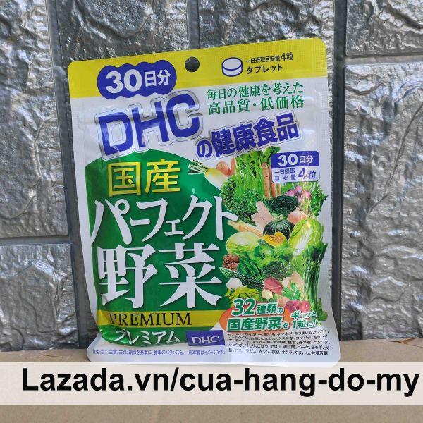 Viên uống rau củ DHC Perfect Vegetable gói 30 ngày dùng - Bổ sung lợi khuẩn và chất xơ