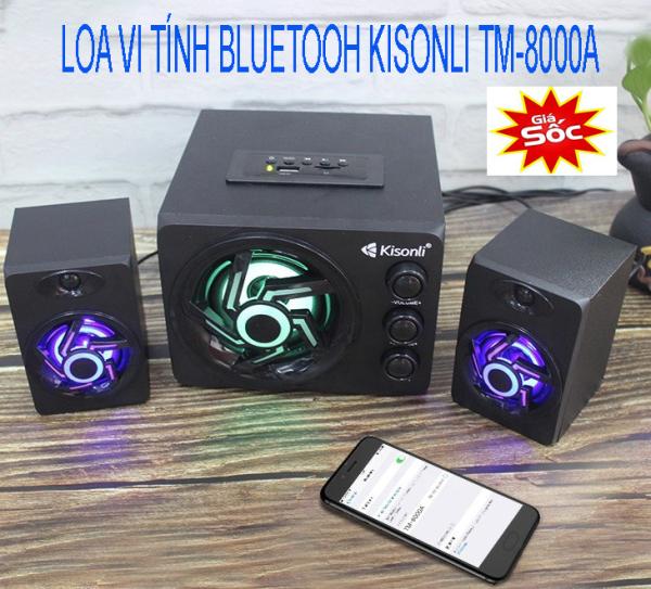 Bảng giá Loa Vi Tính Để Bàn Cao Cấp Bluetooh Kisonli Tm-8000A  - Loa Pc Loa Mini Nghe Nhạc Có Dây, Loa vi tính 2.1 kiêm Bluetooth USB thẻ nhớ Kisonli TM-8000A led RGB Âm thanh cực khủng (Đen) - Bảo Hành 12 tháng Phong Vũ