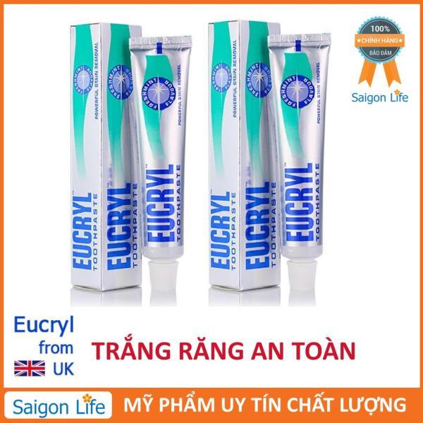 Combo 2 Kem đánh răng tẩy trắng Eucryl 62g giá rẻ