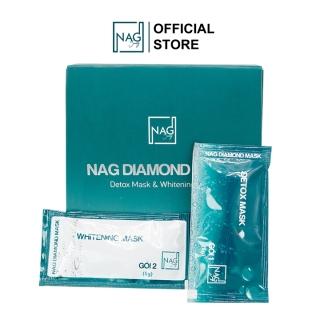 Bộ đôi mặt nạ sủi bọt thải độc và dưỡng da NAG DIAMOND MASK hộp 10 gói Detox mặt nạ đất sét thải độc mờ nám dưỡng trắng da toàn diện - Whitening Mask mặt nạ ngủ dưỡng da dưỡng trắng dưỡng ẩm da thumbnail