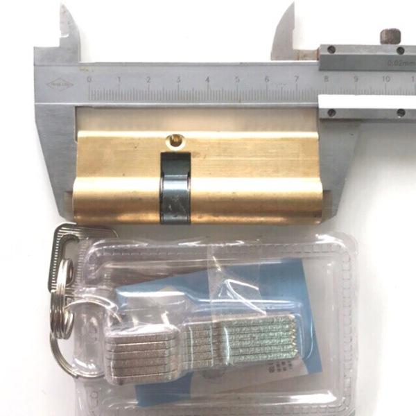 Ruột khoá 80mm 1 đầu dài 1 đầu ngắn thay thế cho ruột khoá KinLong