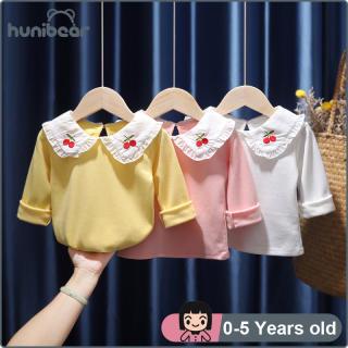 Baby Cô Gái Dài Tay Áo T-Shirt Mùa Xuân Mùa Thu Trẻ Em Của Cô Gái Quần Áo Cotton Ve Áo Đáy Áo Tops 0-5 Năm