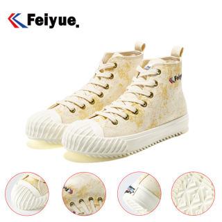 Giày Thể Thao Feiyue Giày Vải Đế Bằng 3017, Giày Lưu Hóa Thời Trang Theo Xu Hướng Nữ, Đế Trong Co Giãn Đế Bằng Thoải Mái 3 Màu Cao Cấp