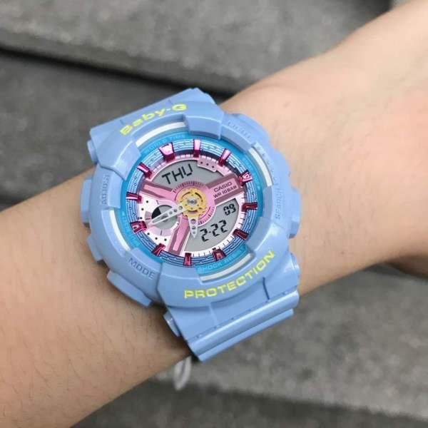 Nơi bán BabyGAZStore BA-110CA-2A Dây Nhựa , Màu Xanh Neon Bóng Nổi Bật Đồng Hồ Đeo Tay Đồng Hồ Nữ Đồng Hồ Thể Thao