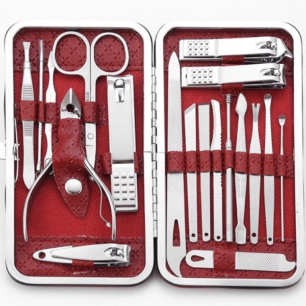 Bấm móng tay 19 món cao cấp sắc bén, cắt móng tay thép không gỉ BMT19 nhập khẩu