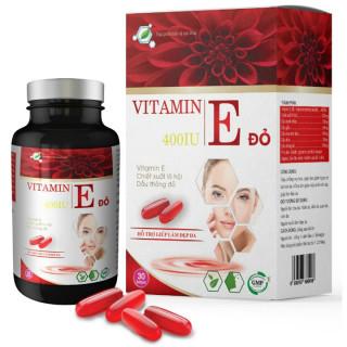 Viên Uống Đẹp Da Vitamin E Đỏ- Chiết Xuất TInh Dầu THông Đỏ, Dầu Hoa Anh Thảo, Dầu Hạnh Nhân, Giúp Chống Oxy Hóa, Giảm Nếp Nhăn, Mờ Thâm Nám thumbnail