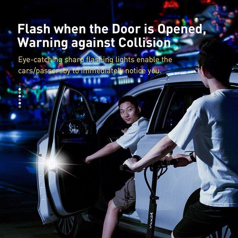Bộ đèn cảnh báo mở cửa tự động dùng cho xe ô tô Baseus