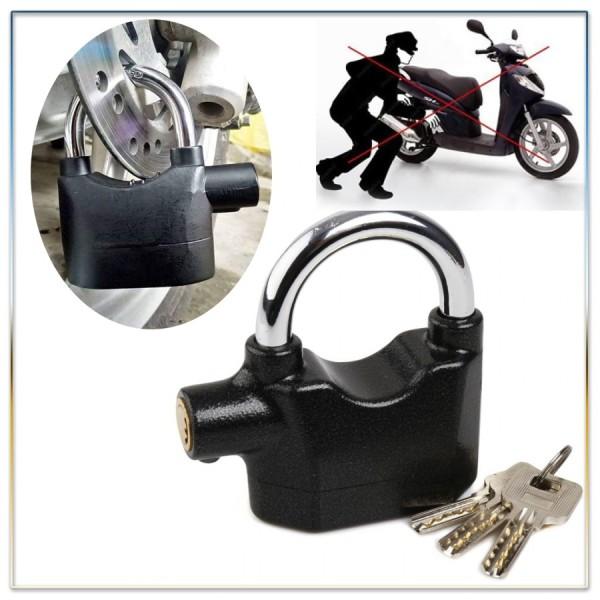 Ổ Khóa Chống Trộm Chính Hãng - Ổ khóa báo động cho nhà - Siêu Tốc Khóa Chống Trộm Xe Máy Thông Minh Có Còi Báo Động, Ổ Khóa Chống Trộm Thế Hệ Mới Alarm Lock Nhỏ Gọn Chống Nước
