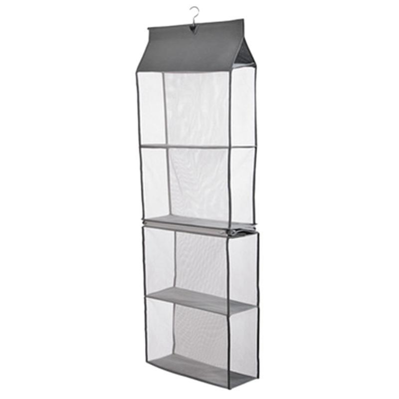 Giá Detachable 6 Compartment Organizer Pouch Hanging Handbag Organizer Clear Purse Bag Collection Storage Bag Holder Wardrobe Closet