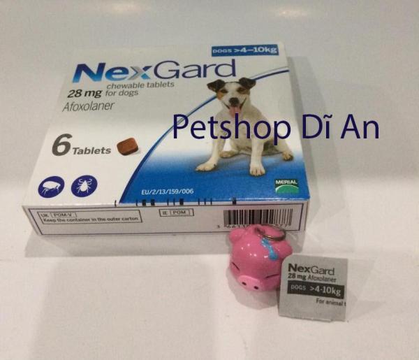 Một viên NexGard trị ghẻ, xà mâu, ve, bọ chét cho chó 4 - 10 kg