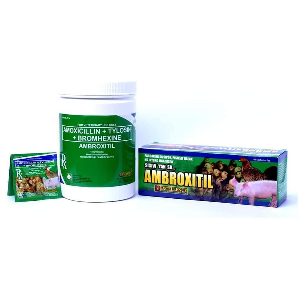 Combo 2 gói Thuốc Úm Gà Con Nhập AMBROXITIL (2 Gói)