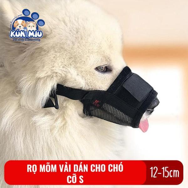 Rọ mõm cho chó Kún Miu cỡ S chất liệu vải dán chắc chắn, dễ dàng sử dụng