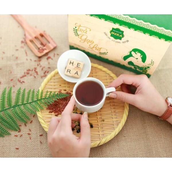 Trà Gạo Lứt Giảm Cân - Giữ Dáng - Đẹp Da & hỗ trợ sức khỏe Hera (14 gói x 50g)