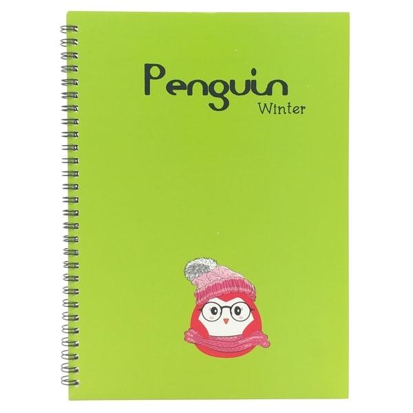 Mua Sổ Lò Xo Penguin (18x25cm) - Mẫu 4 - Màu Xanh Lá