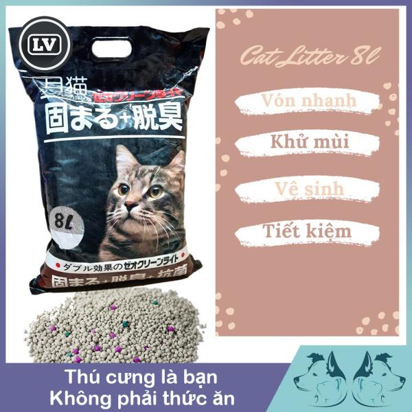 Cát vệ sinh cho mèo siêu hút siêu thấm Nhật Bản 8L