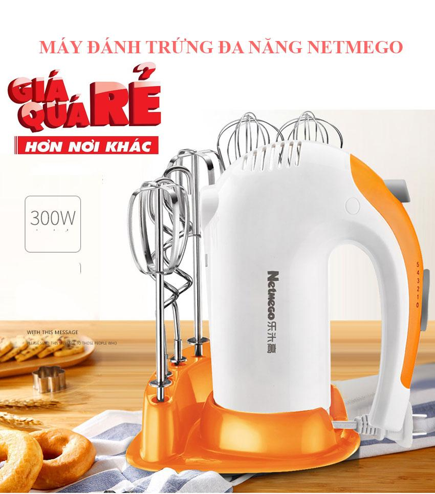 Máy đánh trứng cầm tay Netmego N38D 300W-Công việc chuẩn bị nguyên liệu chế biến món bánh giờ đây vô cùng tiện dụng, dễ dàng và nhanh chóng-Sale 50%,giao hàng toàn quốc bởi May Store.