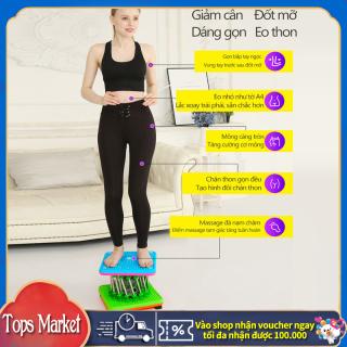 Máy vặn eo lắc hông loại 9 cột nam châm màu xanh lam dụng cụ thể thao tại nhà cho cả nam và nữ Tops Market thumbnail