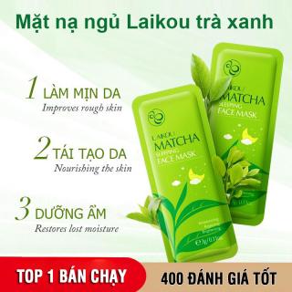 [10 miếng] Mặt nạ dưỡng da trà xanh LAIKOU dưỡng ẩm và chống lão hóa mặt nạ ngủ matcha mặt nạ nội địa Trung mask XP-MN161 thumbnail