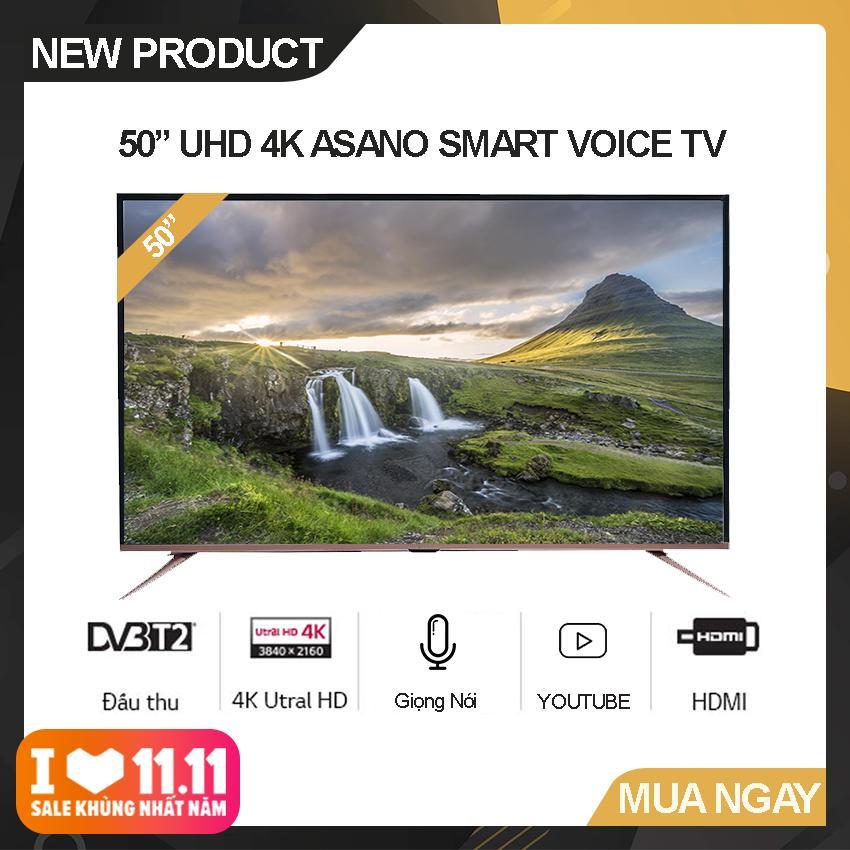 Bảng giá Smart Voice Tivi Asano 50 inch Ultra HD 4K - Model 50EK7 (Đen) Hệ điều hành Android 7.1, Kết nối Bluetooth, Điều khiển giọng nói, Tích hợp DVB-T2 - Bảo Hành 2 Năm