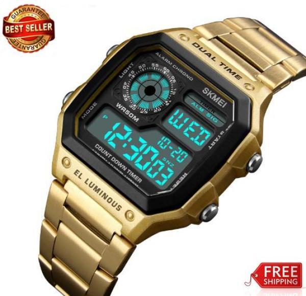 Đồng hồ Skmei dual time EL Luminus điện tử 1335 (bh 12 tháng)
