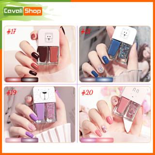 [HOT TREND] Set 2 chai sơn móng tay nhũ + lì - CAVALI - Dung tích 2 6ml nhỏ gọn, nhiều màu xinh xắn cho bạn lựa chọn ( MUA 3 TẶNG 1 ) thumbnail