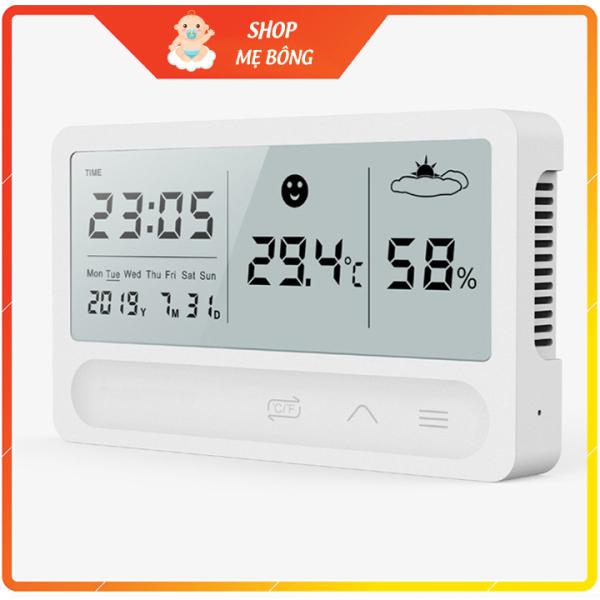 Nhiệt ẩm kế điện tử cao cấp 5 trong 1 dùng nút cảm ứng rất hiện đại [Mẫu mới cao cấp] bán chạy