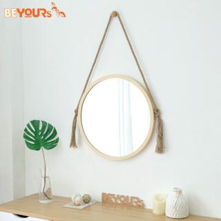 Gương Tròn Treo Tường BEYOURs Khung Gỗ - Mia-Circle-Mirror - Nội Thất Kiểu Hàn thumbnail