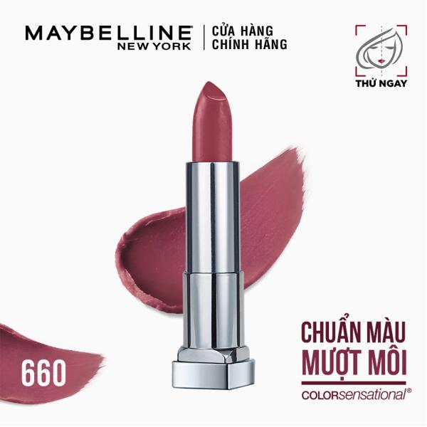Son Lì Mịn Môi Không Khô Môi Maybelline New York Color Sensational The Creamy Mattes Lipstick 3.9g nhập khẩu