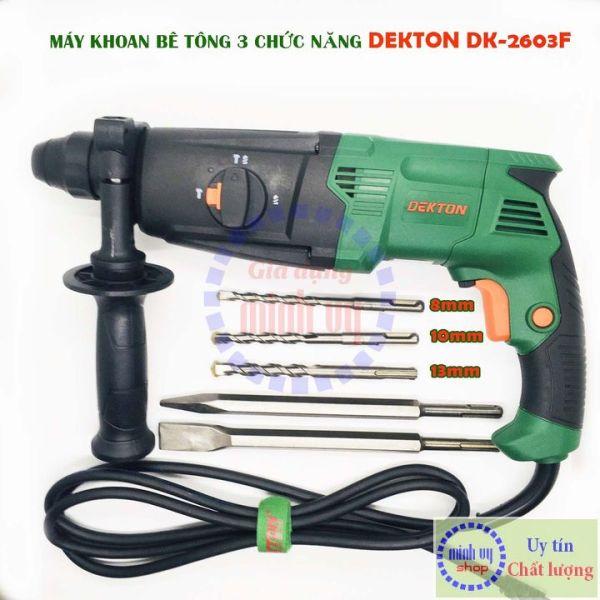 MÁY KHOAN BÊ TÔNG 3 CHỨC NĂNG DEKTON DK-2603F 950W