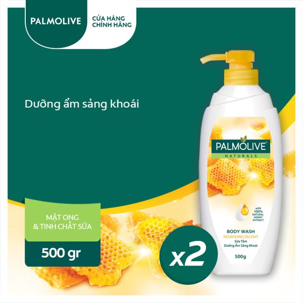 Bộ 2 Sữa tắm Palmolive dưỡng ẩm sảng khoái 100% chiết xuất từ mật ong 500g