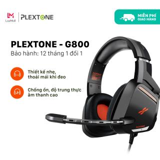 Tai nghe chụp tai gaming dành cho game thủ chuyên nghiệp Plextone G800 thiết kế over ear giúp chống ồn dây dù chống rối kèm mic dùng cho điện thoại laptop pc máy tính dùng jack 3.5mm tặng túi đựng handmade. - Giới hạn 2 sản phẩm khách hàng thumbnail