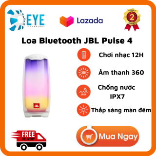 [Flash Sale 50%] Loa Bluetooth JBL Pulse 4 - Loa Nghe Nhạc Công Suất Cực Lớn 20W - Âm Thanh Phát Sáng 360 - Loa Karaoke Âm Bass Mạnh Mẽ, Treble Rời - Chơi Nhạc 12H - Chống Nước IPX7 - Party Boots 100 Loa -Tương Thích Điện Thoại, Máy Tính thumbnail