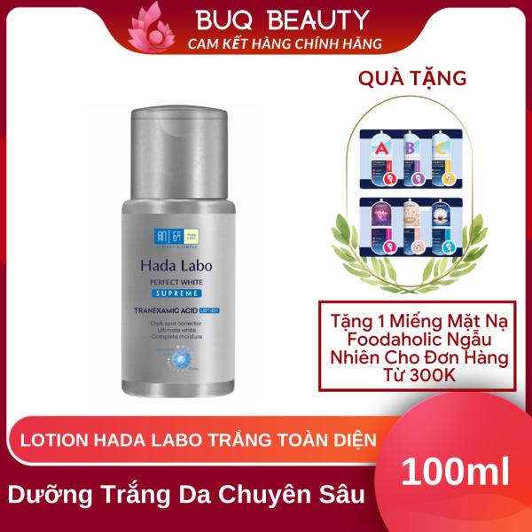 Lotion Hada Labo Perfect White Supreme dưỡng trắng toàn diện  - Dung dịch Hada Labo Xám 100ml nhập khẩu