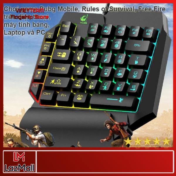 Bảng giá Bàn phím giả cơ 1 tay FREE WOLF K15 chơi game Pubg Mobile, Rules of Survival, Free Fire trên điện thoại, máy tính bảng, Laptop và PC ( Có Phân Loại ComBo) Phong Vũ