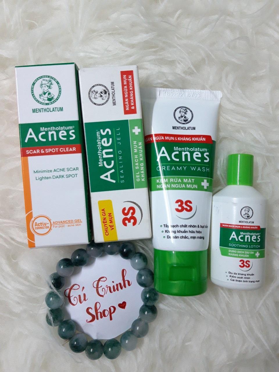 (HÀNG TẶNG ) Set 4 món Acnes MiNi ( 1gel trị mụn 2g+ 1 sữa rữa mặt 25g+ 1 chai dung dịch ngừa mụn- kháng khuẩn 25ml+ 1 gel tri thâm min 2g)
