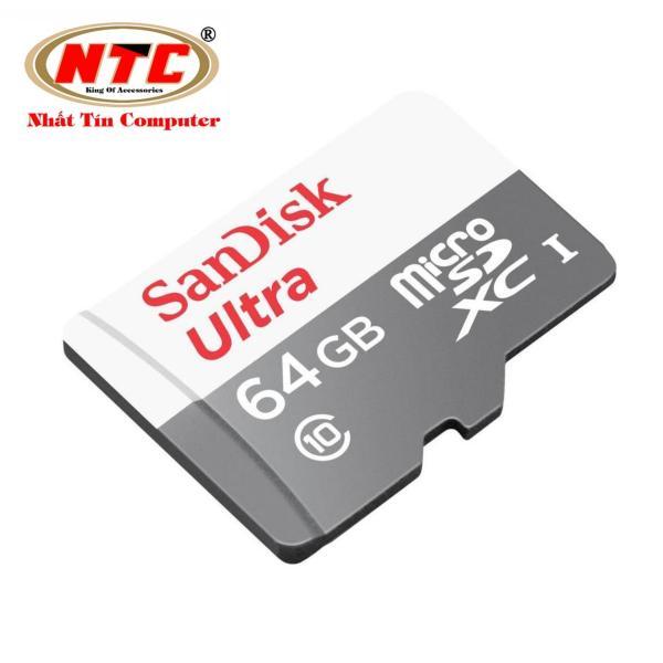 Thẻ nhớ MicroSDXC SanDisk Ultra 533X 64GB 80MB/s - Không Box (Bạc)