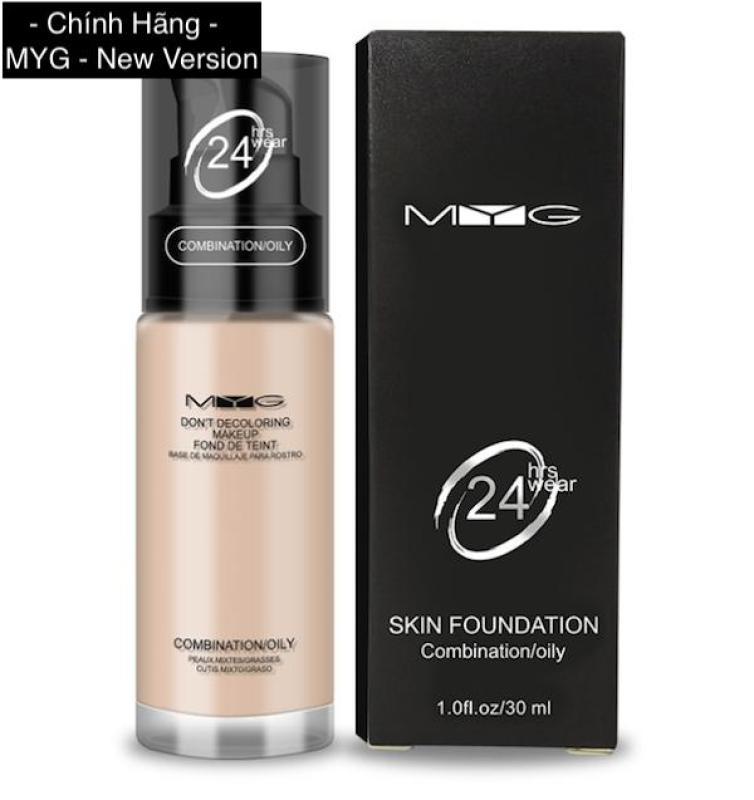 Kem Nền Mịn Da Dạng Lỏng MYG 24h Skin Foundation 30ml Hồng Kông
