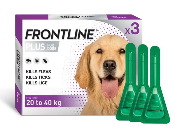 Frontline Plus Nhỏ Gáy Cho Chó 20-40kg (1 Tuýp)
