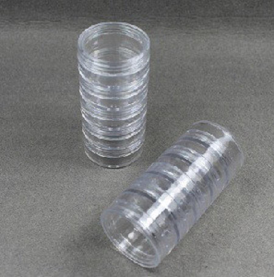 10 hũ nhựa chiết tròn trong 5g xếp chồng